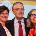 Da esquerda para a direita, a Conferencista Nísia Trindade Lima, o Presidente da ABL Marco Lucchesi e a Acadêmica Rosiska Darcy de Oliveira
